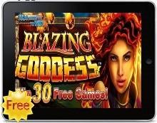 Blazing Goddess iPad pokies