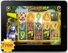 Gorilla Go Wild free iPad pokies