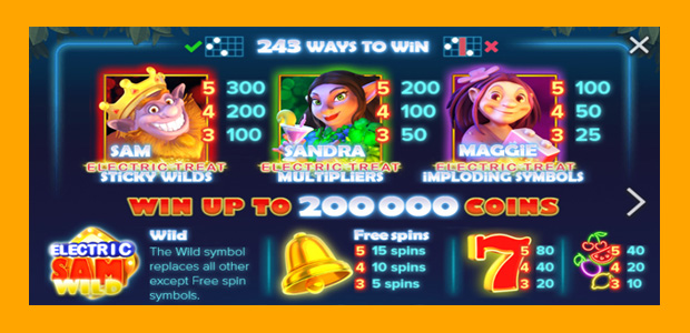 Spiele Electric SAM - Video Slots Online