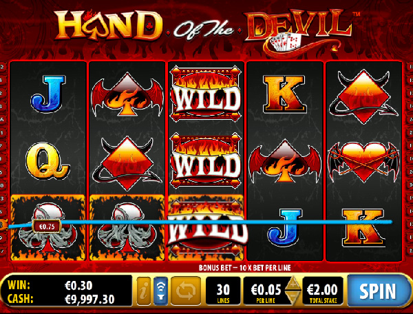 Preview & Free Play of Hand of the Devil Slots Game