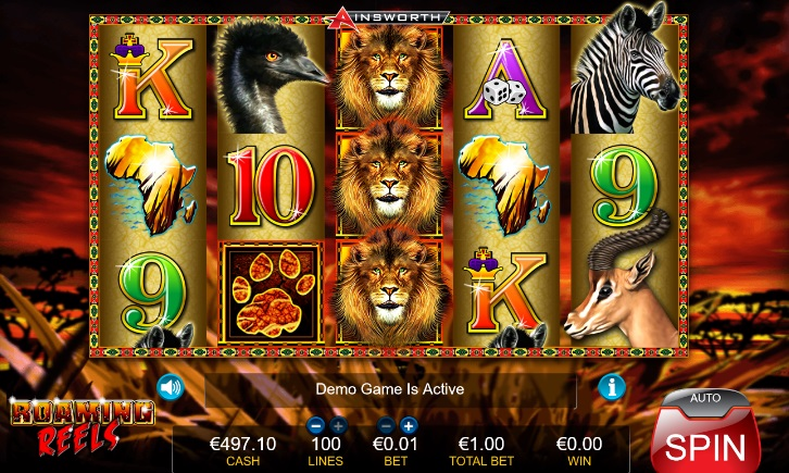 Roaming Reels Slot – Play Ainsworth Casino Games Online