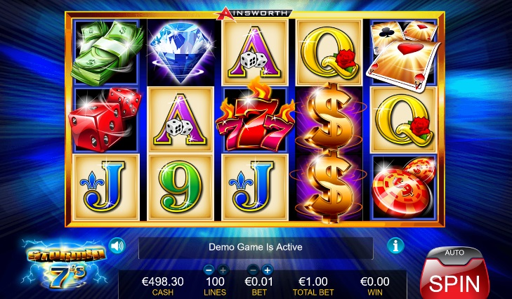 stormin 7s free pokies slots by ainsworth