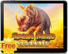 Raging Rhino Megaways free mobile slot