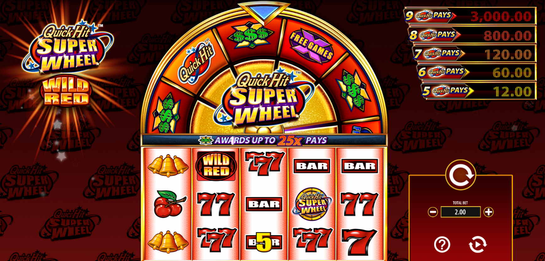 Spiele Quick Hit Super Wheel Wild Red - Video Slots Online
