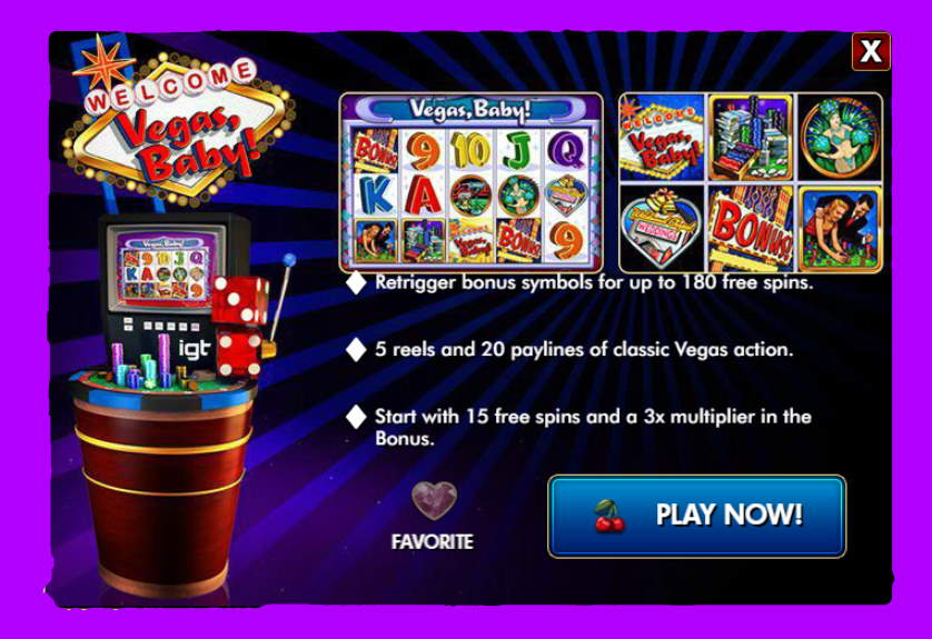 Vegas Baby Free IGT Slot Game Guide