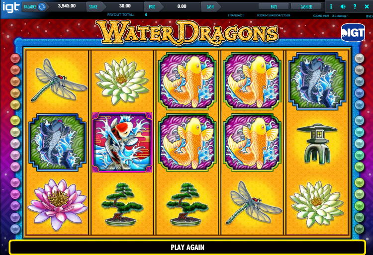 Water Dragons Free IGT Online Slot