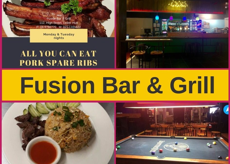 Fusion Bar & Grill Lower Hutt – Menu and Pokies Gaming Lounge