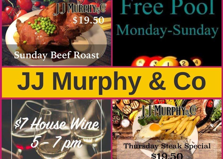 JJ Murphy's Wellington – Bar, Menu and Pokies Gaming Lounge