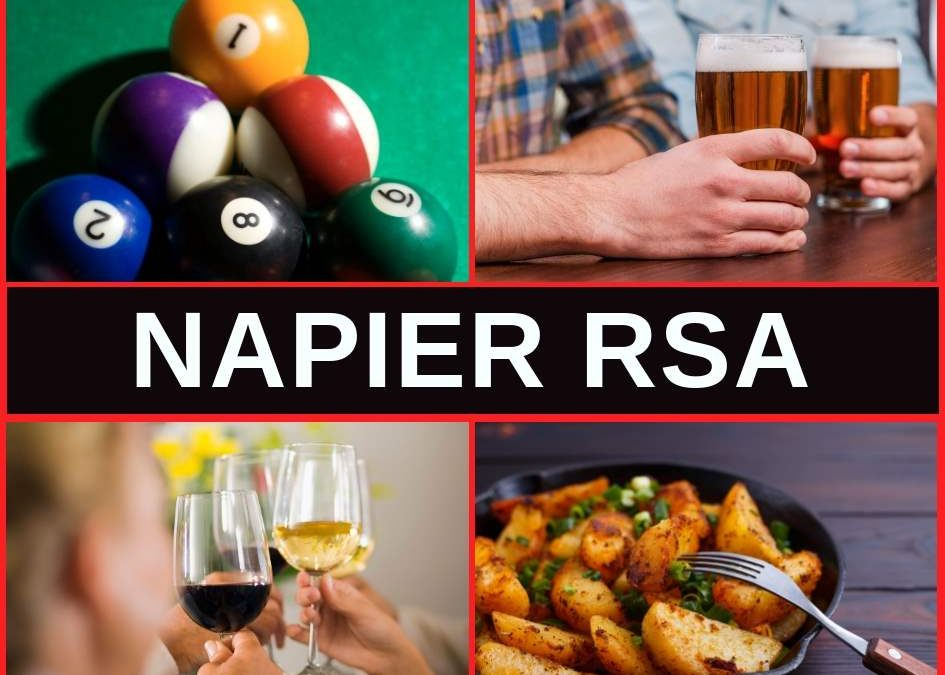 Napier RSA, Restaurant Menu, Bar & Pokies Gaming Lounge