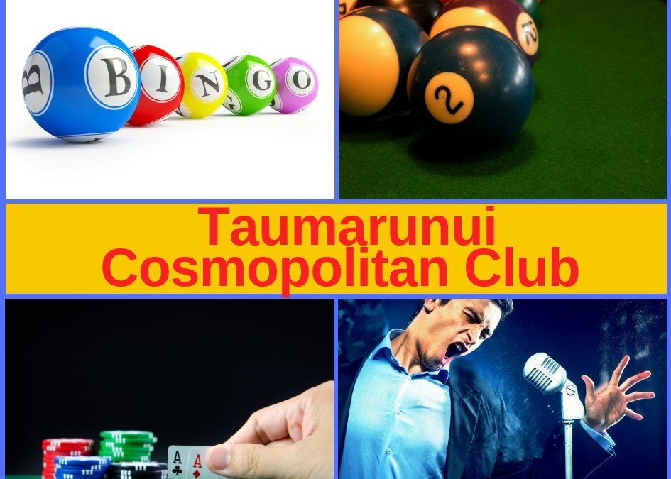 Taumarunui Cosmopolitan Club – Entertainment, Menu and Pokies Gaming Lounge