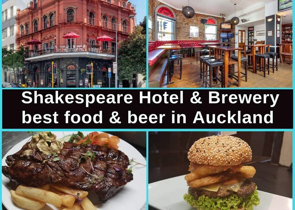 Shakespeare Hotel & Brewery Auckland CBD, Restaurant Menu, Bar & Pokies Gaming Lounge