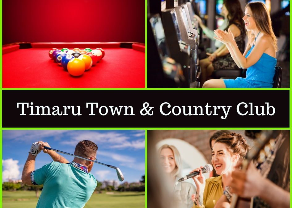 Timaru Town & Country Club Menu, Entertainment & Pokies Gaming Guide
