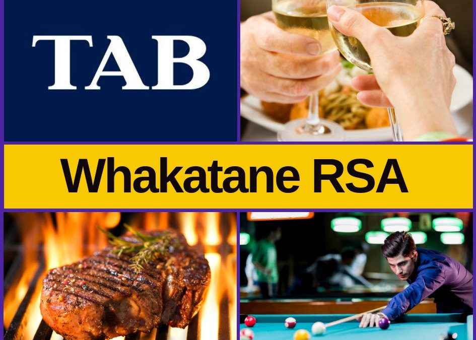 Whakatane RSA – Bar, Menu, Entertainment & Pokies Gaming Guide